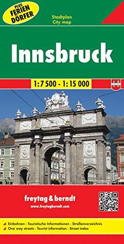 Innsbruck, Stadtplan 1:7500 - 1:15000: Stadskaart 1:7 500 / 1:15 000 (freytag & berndt Stadtpläne)