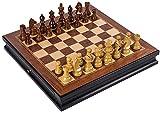 Conjunto de ajedrez Conjunto de ajedrez de Madera con cajones de Doble ajedrez de plástico Piezas de ajedrez de Madera Maciza Juego de ajedrez Profesional de Alto Grado Ajedrez de Regalo Baifanta