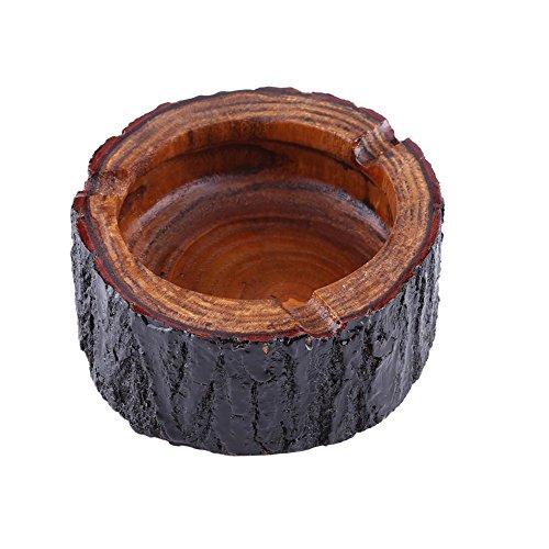 Aschenbecher Aus Holz, Großer, Kleiner Holz,einzigartiger Handgemachter,runder Aschenbecher, Dekorativer Brauner Holz Tabak Aschenbecher, Draußen Und Drinnen Weihnachts Vintage Aschenbecher(9-10cm)