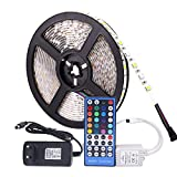 GHC LED Lámparas RGB LED Strip Impermeable DC 12V 5M 5050 SMD RGBW RGBWW LED Tiras LED Flexible con Poder y Control Remoto 3A (Color : IP65 Waterproof, Color emisivo : 5M RGBWW Set)