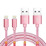 Apple MFi Certified Lightning Cable iPhone Charger Cable Lightning Cable iphone Charger 3FT pack iPhone 11 Pro Xs XR X 8 7 6s 6 Plus MAX ipad Charging Cable Cord Fast USB Accessories Chargers