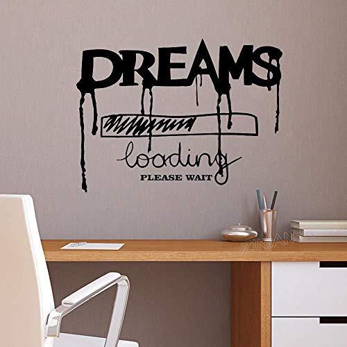 Wandaufkleber Traum Laden Inschrift Wort Vinyl Dekoration Wohnzimmer Lustige Kreative Wandtattoo Schlafzimmer Zitat 56x42 cm