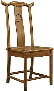 Shisyan Silla de comedor 2 sillas retro chinos Silla de madera maciza marco de madera maciza Sillas Restauran conveniente for cenar con Sillas de cocina (Color: Marrón, Tamaño: 42cm x 43cm x 100cm) Si