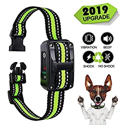 Small Bark Collar Rechargeable for Dogs,Anti Barking Collar For Small Dogs -Waterproof Smallest Humane Stop Barking Collar - No Shock Bark Collar - Safe Pet Bark Control Collar