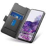 Funda Samsung Galaxy S20 Plus,Fundas S20 Plus Libro,Carcasa S20 Plus con Cierre Magnético,Tarjetero y Suporte,Capa S20 Plus Plegable Cartera,Flip folio Phone Cover Case,Tipo Étui Piel Protección.Negro