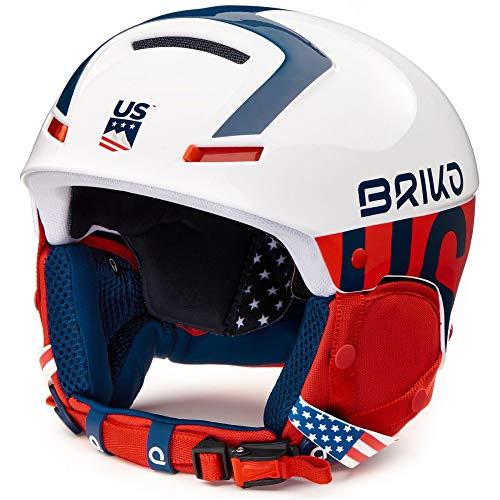 Briko Casque De Ski Faito USSA Matt White Blue Red