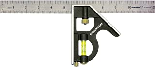 Swanson Tool TC132 12-Inch Combo Square (Cast Zinc Body, Stainless Steel Ruler and Brass Bolt)