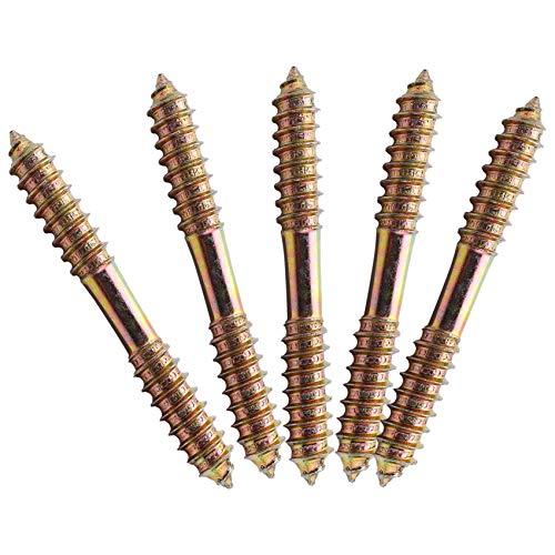 cherrypop Tornillo de fijación M8 x 70 mm, doble extremo de madera a madera, 5 unidades