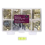 Picture Hangers, Quality Picture Hanging Kit, 225pcs Heavy Duty Frame Hooks Hardware with Nails, Hanging Wire,...