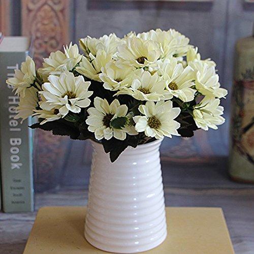ASTrade Ramo de Flores Artificiales con Flores de Seda (6 Ramas de 10 pimpollos)