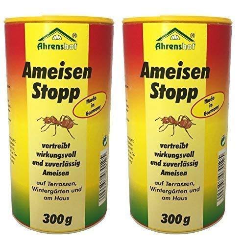 2 x 300g Ameisenstopp von Ahrenshof, Pulver gegen Ameisen, Ameisen-Stopp, Ameisenabwehr