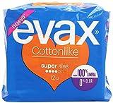 Evax Cottonlike Super Compresas con Alas - 12 unidades