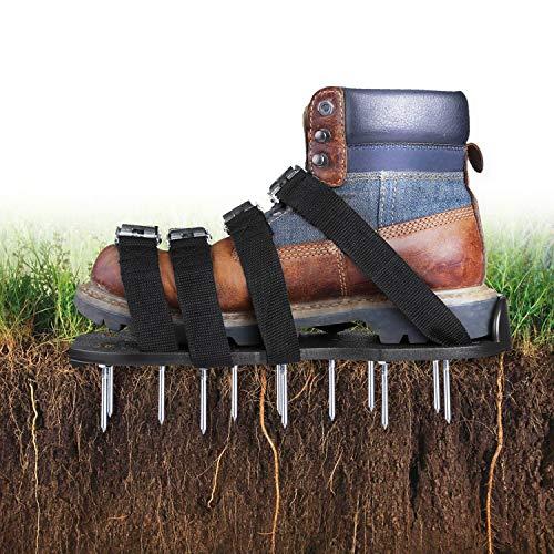 TACKLIFE Zapatos Jardín de Césped, Zapatos para Airear El Césped, con 4...