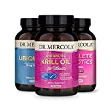 Dr. Mercola Essential 3 for Women (90 Servings), Krill Oil for Women, Ubiquinol 150 mg, Complete Probiotics for Women, Supports Digestive, and Immune Health*, Non GMO, Gluten Free, Soy Free