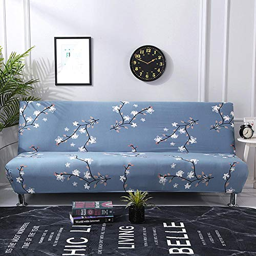 Sundlight Futon Slipcover, Armless Sofa Cover Stretch Sofa Bed Slipcover Protector Elastic Spandex Modern Simple Folding Couch Sofa for Home,Office