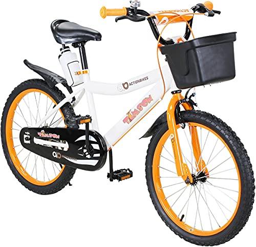 Actionbikes Kinderfahrrad Timson - 20 Zoll - V-Break Bremse vorne - Seitenständer - Luftbereifung - Ab 4-9 Jahren - Jungen & Mädchen - Kinder Fahrrad - Laufrad - BMX - Kinderrad (20`Zoll)