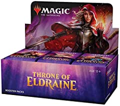 Expand your collection. With 36 throne of eldraine booster packs, each with 15 magic cards, The possibilities are nearly endless. Choose your favorite cards, PA your deck, and battle! These fairy tales fight back. Throne of eldraine spins grimm's fai...