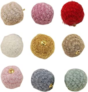 Happyyami Bolas de brinco, artesanato, pompons fofos, pendentes, joias, suprimentos para colares, orelhas, joias, decoraçã...