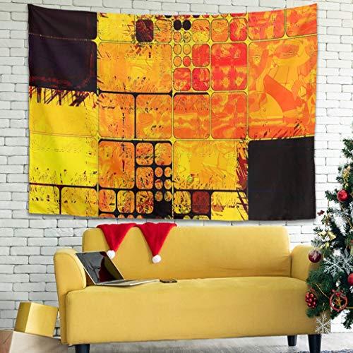 Tapiz de pared multicolor cuadrado suave para alfombra blanca, 200 x 150 cm