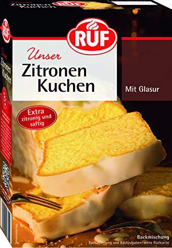 RUF Zitronen-Kuchen Backmischung mit fruchtiger Zitronenglasur, 8er Pack (8 x 500 g)