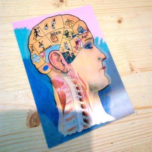Postkarte KOPF ANIMIERT Lenticular, Wackelbild, ideal als Geschenk zum Geburtstag oder Weihnachten - Lesezeichen, Postkarten, Folder, Stickercards, Ringhefte und Kugelschreiber von Kingdiscount