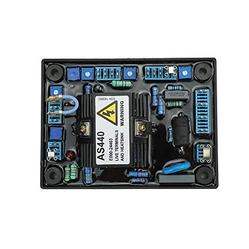 KKmoon Regulador Automático de Voltaje de Alto Rendimiento AVR AS440 Reemplazo Estable para Estabilizadores de Generadores Componentes y Suministros Electrónicos AVR Universal