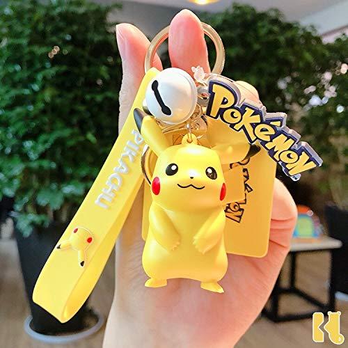 Figurine Pokemon Pikachu Porte-Clés Pokémon Porte-Clés Mignon Dessin Anime Pokemon Pikachu Porte-clés Sac Accessoire Anime Pendentif Anime Fans Cadeau (A1)