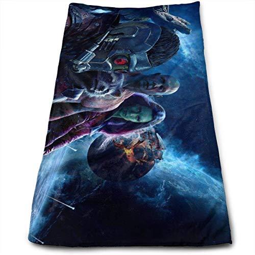 Hdadwy Guardians Galaxy Towel 100% algodón de Lujo Toallas de baño Suaves, Gruesas, de Calidad, Toallas para baño, Hotel y Cocina (12 x 27,5 Pulgadas)