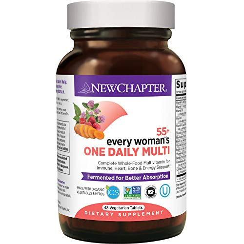 New Chapter Multivitamin for Women 50 Plus - Every Woman's One Daily 55+ with Fermented Probiotics + Whole Foods + Astaxanthin +  Organic Non-GMO Ingredients -48 ct