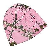 CTM Women's Cotton 8 Inch Camo Knit Stocking Cap, Pink