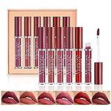 OKENTEN 6 Colors Liquid Matte Lipstick Set, Matte Lipstick Long-Lasting Wear Non-Stick Cup Not Fade Matte Lips Stick, Waterproof Kiss-proof Durable Nude Lipstick Set