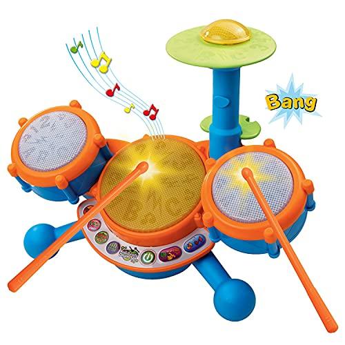 VTech KidiBeats Drum Set (Frustration Free Packaging) , Orange