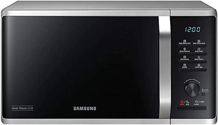 Forno microonde grill samsung , 23 litri, 800 w, grill 1100 w, argento MG23K3575CS/ET
