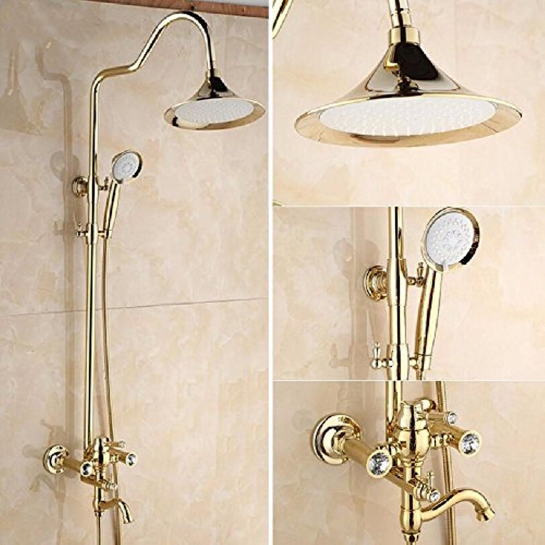 CJSHV-Alle Duschen Duschen Wasserhahn Antiken Europischen Kupfer Gold Shower Dusche Stellen