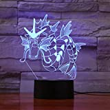 wangZJ 3D Lamp Gyarados / 7 Color Led Night Lamps/Kids Touch Led Usb/Sleeping Nightlight/Ideal Art And Crafts/Halloween Gift Pokemon