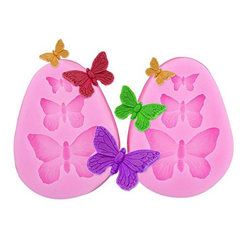 2pcs of Butterfly Silicone Fondant Mold Cake Jelly Molds Kitchen Baking Tool Chocolate Mould
