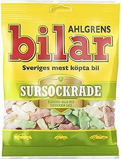 Ahlgrens Bilar Sursockrade - Sour Soft Chewy Marshmallow Cars - 100g