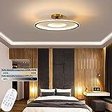 Creativo LED Lámpara de Techo Con Control Remoto Regulable Redondo Plafon Luz de Techo 50W/60W Lámpara de Salón Lámpara de Dormitorio Guardería Iluminación de Techo por Sala Dormitorio Comedor,55cm