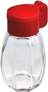 Homiez zoutvaatje van glas met klapdeksel van kunststof, optimaal als campingzoutvaatje, op kleur gesorteerd, 1 stuk