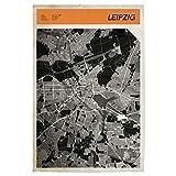 artboxONE Poster 60x40 cm Städte Stadtkarte Leipzig