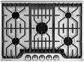 FRIGIDAIRE Professional 30-Inch Gas Cooktop, Stainless Steel, 5 Burners, Liquid Propane Convertible, FPGC3077RS