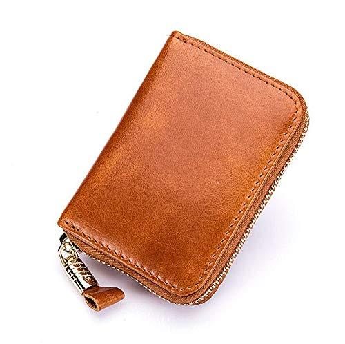 Addfect Damen Herren Kreditkartenetui Fächer Geldbörse Kreditkartenhüllen mit Viel Platz Portemonnaie mit Münzfach und Geldfach Einfach Charme Geschenk,Multicolor (Gelb)