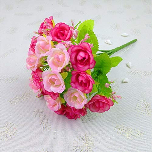 rainbowhh Fai da Te casa diserbo Fiori Decorativi 1 Mazzo 21 Teste Artificiali finte Rose Festa di Nozze Decorazioni per la casa Fiore di SetaC
