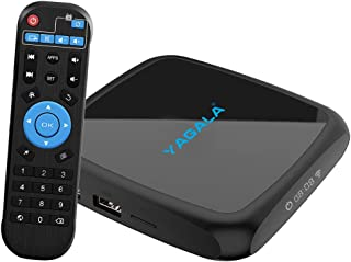 Android TV Box, YAGALA V3 Android 9.0 TV Box with RK3318 Quad Core 4GB RAM 32GB ROM Dual WiFi 2.4G/5G LAN Ethernet UHD 4K HDMI USB3.0