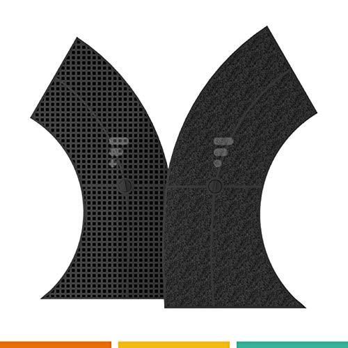 Kohlefilter / Aktivkohlefilter für Dunstabzugshaube FC12 - passend für 647277 Bosch DHZ2400 / Siemens LZ24000 / AEG 9029793800 / Electrolux 902979380 / Whirlpool 484000008582 / Wpro Type10 AMC859