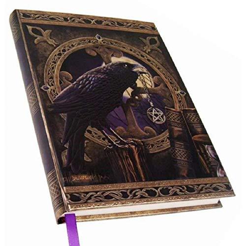 Pacific Trading Black Raven & Pentagram Talisman Embossed Journal by Lisa Parker