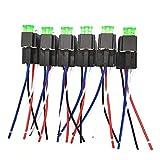 IUFINUEN 6 Ajuste automático del Fusible de Encendido/Apagado Relés 30A 12V CC de 4 Pines / 6 Pines del relé electrónico de Coches Parada automotor con Seguro de Cine (Color : 12V 4pin)