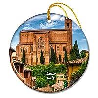 イタリアシエナクリスマスオーナメントセラミックシート旅行お土産ギフト