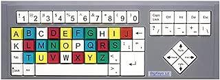 BigKeys LX ABC Large Print USB Wired Keyboard - Colored Keys & Black Characters