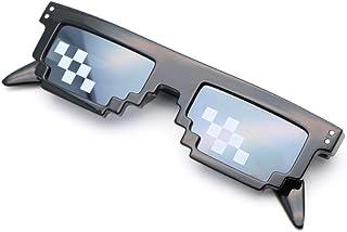 f831b86a53 sijiaqi Gafas de Sol para Hombre y mujerGafas de caleidoscopio Nuevas Gafas  de Sol pixeladas Trato